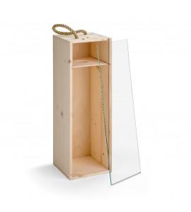 Holzkiste 1,5 Ltr. mit Glassch