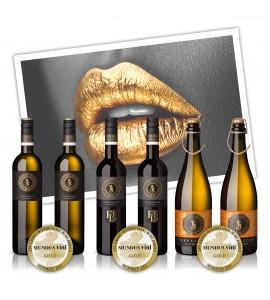 """6er Paket """"Grillpaket Goldmund"""" Inhalt: 3 x 2 Flasche 0,75l"""